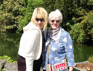 Linda and me pond